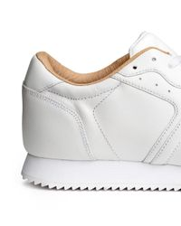 H&M - White Leather Trainers for Men - Lyst