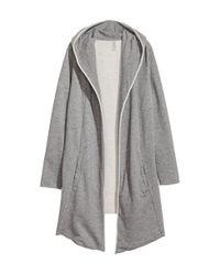 H&M | Gray Sweatshirt Cardigan | Lyst