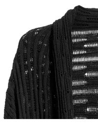 H&M | Black Hole-patterned Cardigan | Lyst