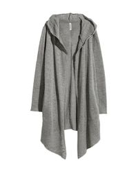 H&M | Gray Hooded Cardigan | Lyst