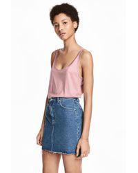 H&M Pink Jersey Vest Top
