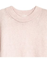 H&M - Pink Knitted Jumper - Lyst