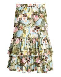 H&M Blue Tiered Cotton Skirt