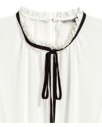 H&M White Sleeveless Blouse