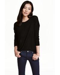 H&M Black Fine-knit Jumper