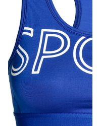 H&M Blue Sports Bra Medium Support