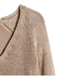H&M - Brown Knitted Jumper - Lyst