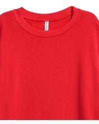 H&M Red Oversized Sweatshirt