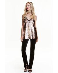 H&M Black Velvet Trousers