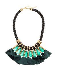 H&M - Blue Short Necklace - Lyst