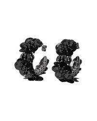 H&M | Black Hoop Earrings | Lyst