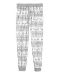 H&M Gray Fleece Pyjama Bottoms