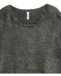 H&M - Gray Knitted Jumper - Lyst