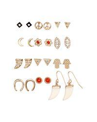 H&M | Metallic 12 Pairs Earrings | Lyst