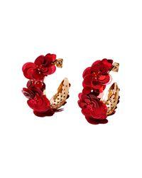 H&M | Red Hoop Earrings | Lyst