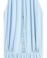 H&M Blue Dress With Lace Details