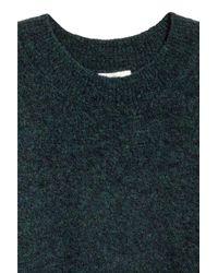 H&M Green Mohair-blend Jumper