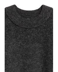 H&M Gray Knitted Wool-blend Dress