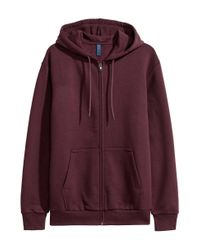 H&M Purple Hooded Jacket for men