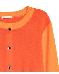 H&M - Orange Cotton Cardigan - Lyst
