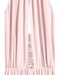 H&M Pink Dress With Lace Details