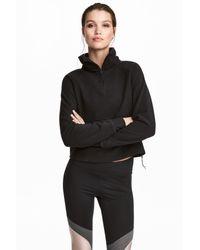 H&M Black Fleece Sports Top