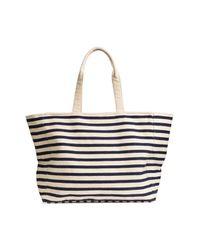 H&M Blue Canvas Shopper