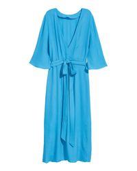 H&M Blue Crêpe Dress
