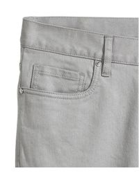 H&M Gray Twill Trousers Slim Fit for men