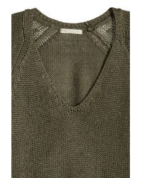H&M Green Knitted Jumper