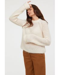 H&M - Natural Wool-blend Sweater - Lyst