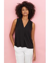 H&M Black V-neck Top