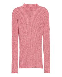 H&M Red Ribbed Jumper