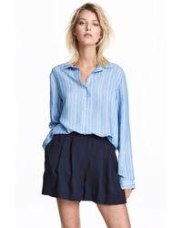 H&M Blue Striped Shirt