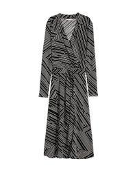 H&M - Black Jersey Crêpe Dress - Lyst