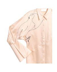 H&M Natural Silk Blouse