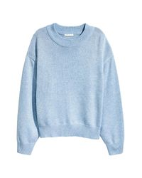 H&M Blue Knitted Jumper