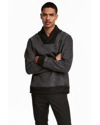 H&M Gray Shawl-collar Top for men