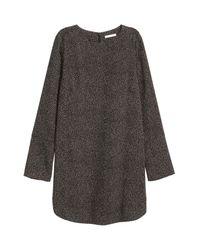 H&M Gray Crêpe Dress