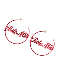 H&M - Red Large Earrings - Lyst