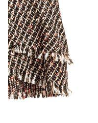 H&M Black Textured Flounced Skirt