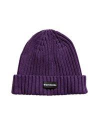 H&M Purple Rib-knit Hat for men