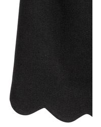 H&M Black Skirt With A Scalloped Hem