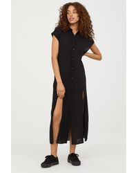H&M Black Shirt Dress