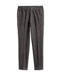 H&M - Gray Jersey Suit Trousers for Men - Lyst
