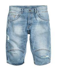 H&M - Blue Denim Shorts for Men - Lyst