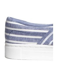 H&M Blue Knot-detail Trainers