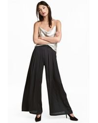 H&M Black Wide Trousers