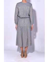 Étoile Isabel Marant Gray Savory Dress In Grey
