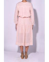 Étoile Isabel Marant Savory Dress In Light Pink